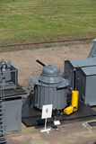Ship quick-firing cannon Stock Photography