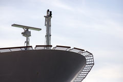 Ship Radar. Radar in the bow of a large cruise ship Royalty Free Stock Image