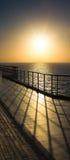 Ship Rail Shadow Stock Photo