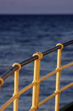 Ship railing Stock Photo