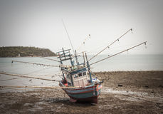 The ship ran aground Royalty Free Stock Image