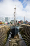 Ship for reconstruction. How ship is prapared for reconstruction Stock Photography