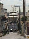 yacht repair yard royalty free stock images