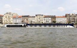 Ship restaurant on the Danube Stock Photo