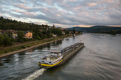 Ship on the the rhein river at koblenz germany Stock Photo