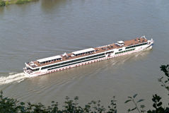Ship on the Rhine Royalty Free Stock Photo