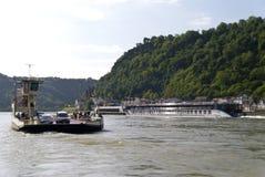 Ship on the Rhine Stock Image