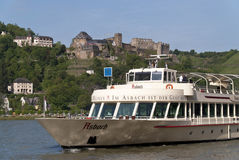 Ship on the Rhine Royalty Free Stock Images
