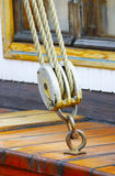 Ship rigging. Of old yacht Stock Photography