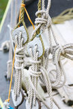 Ship rigging. Of old yacht Royalty Free Stock Images