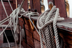 Ship rigging Stock Image