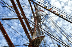 Ship Rigging and Masts Stock Image