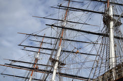 Ship Rigging and Masts Stock Photography