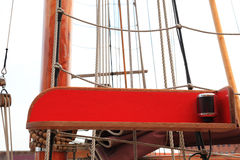 Ship rigging on old yacht Royalty Free Stock Photo