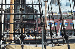 Ship rigging Stock Image