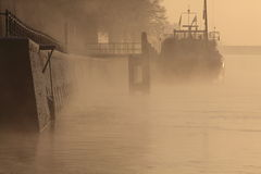 Ship on a river Stock Photography