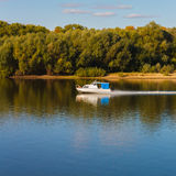 Ship on River Royalty Free Stock Photos