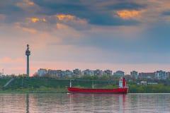Ship on River Danube Royalty Free Stock Photo