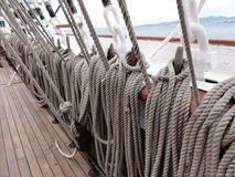 Ship rope Stock Photos