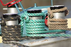 Ship rope. Ship rpes in different colours Royalty Free Stock Photography