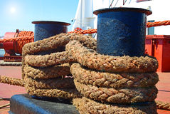 Ship rope Stock Images