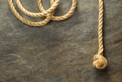 Ship rope at background Stock Photography