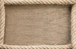 Ship rope and copy space Stock Photo