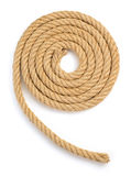 Ship rope isolated on white Royalty Free Stock Photography