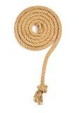 Ship rope isolated on white Stock Photo
