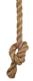 Ship rope with knot Royalty Free Stock Photos