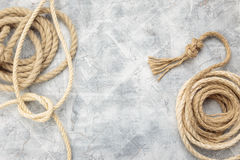 Ship rope knot Stock Images