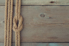 Ship rope knot Royalty Free Stock Image