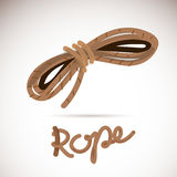 Ship rope with typographic - vector Royalty Free Stock Images