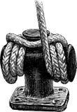 Ship rope stock illustration