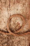 Ship rope and weathered wood Royalty Free Stock Photos