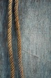 Ship rope and weathered wood Stock Photography