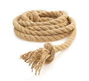 Ship rope on white Royalty Free Stock Photos