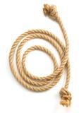 Ship rope on white background Royalty Free Stock Photo