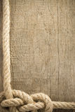 Ship rope and wood background Royalty Free Stock Image