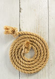 Ship rope on wood Royalty Free Stock Photo