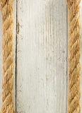 Ship rope on wood Stock Photos