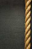 Ship rope on wood Stock Image