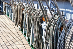 Ship ropes Royalty Free Stock Photos