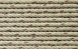 Ship ropes as background texture Stock Photography
