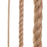 Ship ropes isolated on white background Stock Photo