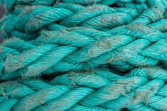 Ship ropes sack as black and white color Stock Photo