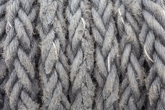 Ship ropes sack as black and white color Stock Photography