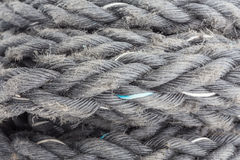Ship ropes sack as black and white color Royalty Free Stock Photo