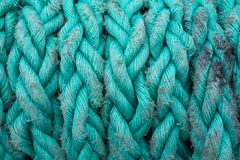 ship ropes sack as black and white color Stock Image