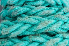 ship ropes sack as black and white color Royalty Free Stock Images